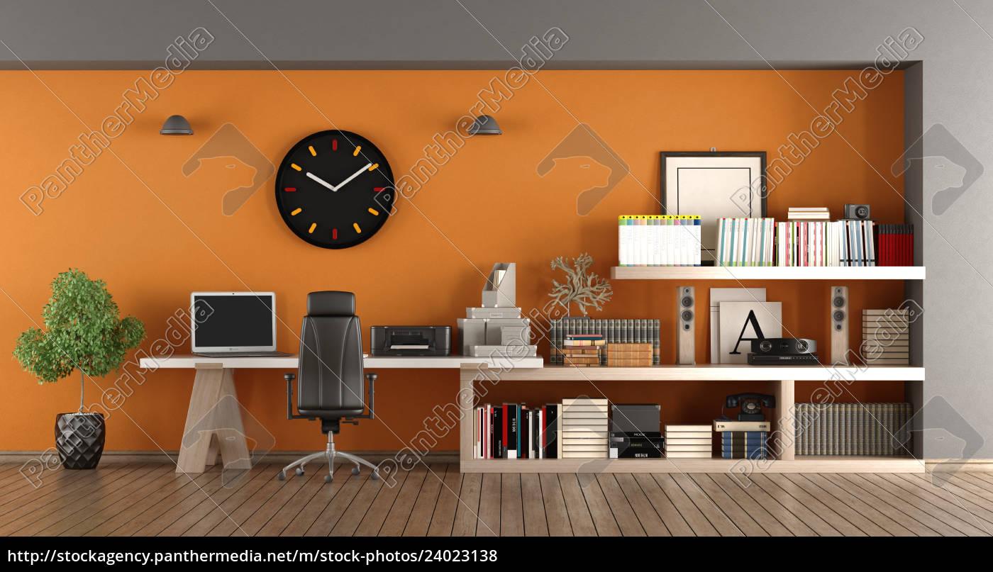 Stock Photo 24023138 - Moderner Arbeitsplatz zu Hause