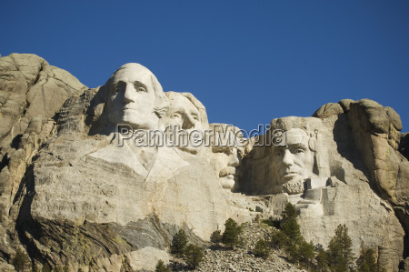 low angle view of mount rushmore