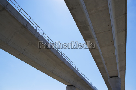 low angle view of elevated roadway