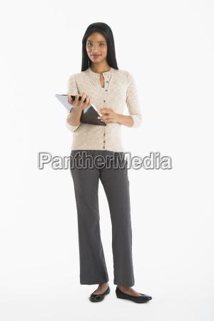 portrait of businesswoman studio shot