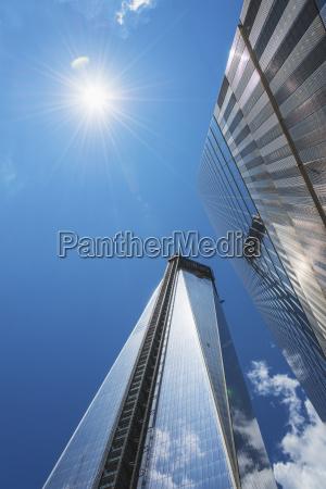 usa new york city low angle
