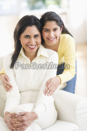 portrait of mother and daughter 12