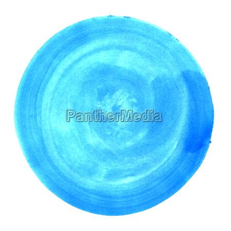 kreis mit blauer wasserfarbe