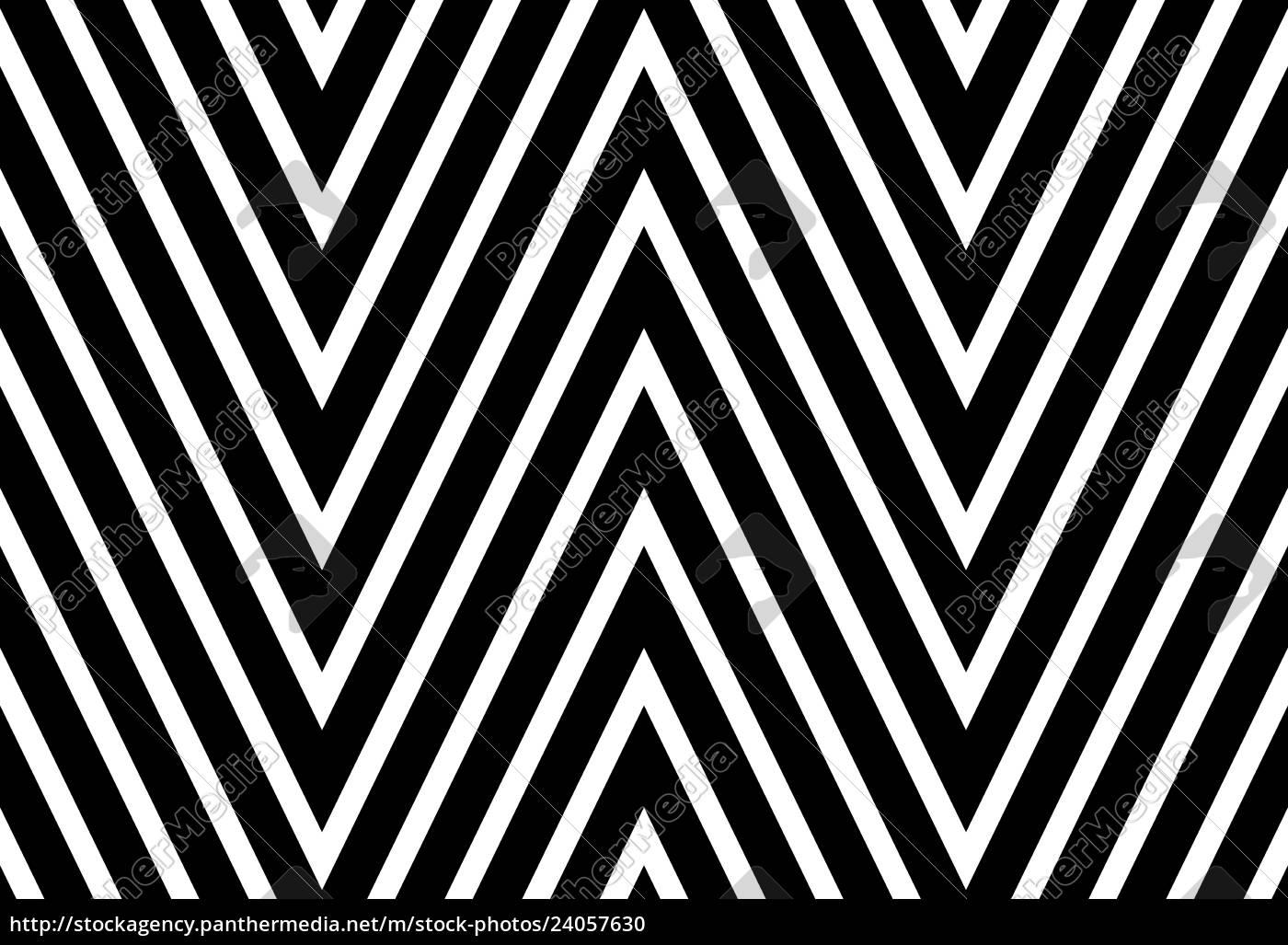 Popart Muster Schwarz Weiss Rauten Inneinander 13