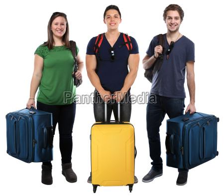 group of young people people vacation