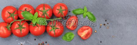 tomaten tomate rot gemuese banner schiefertafel