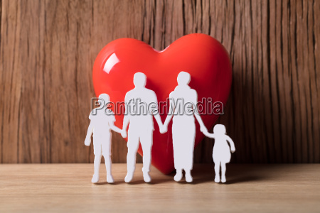 close up of a family holding