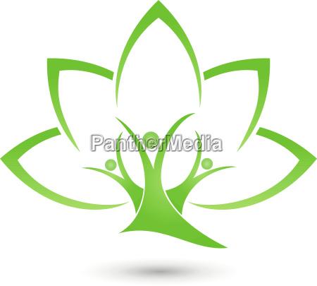 tree plant leaves people naturopaths logo