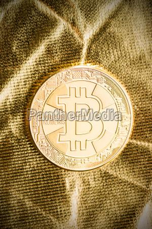 golden bitcoins digital cryptocurrency