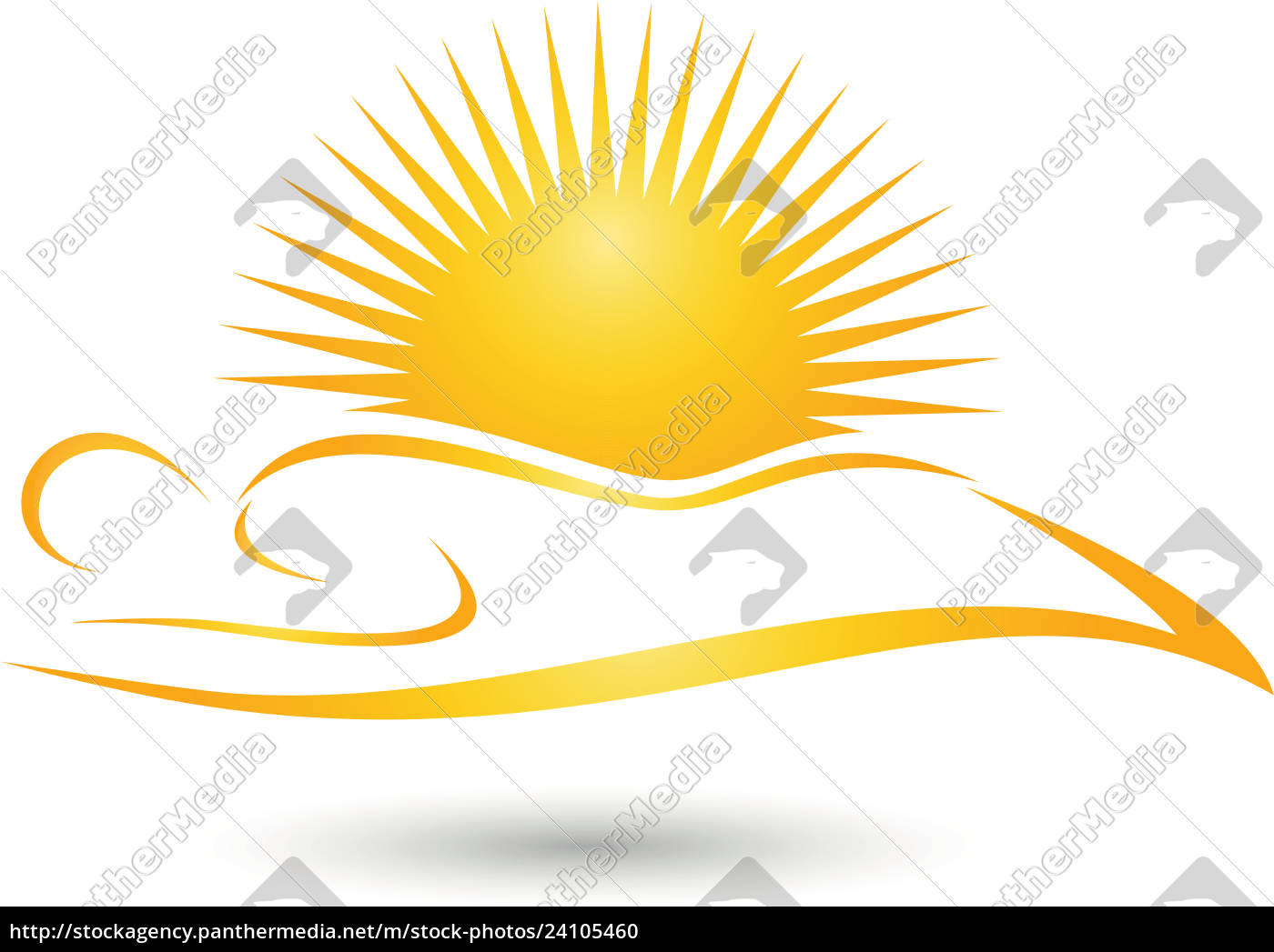 Person Sonne Sonnenstudio Solarium Logo Lizenzfreies Foto