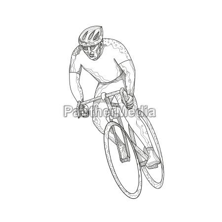 rennrad, racing, doodle - 24114998