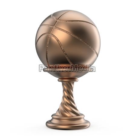 bronze trophaee tasse basketball 3d