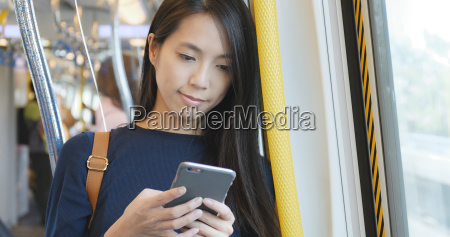 woman working on mobile phone mobile