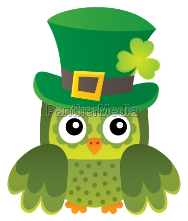 st patricks day theme with owl