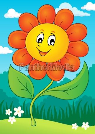 happy flower theme image 4