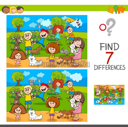 find differences with kids and pets