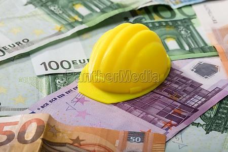 hart hut auf eurobanknoten