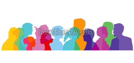 colorful group of people illustration