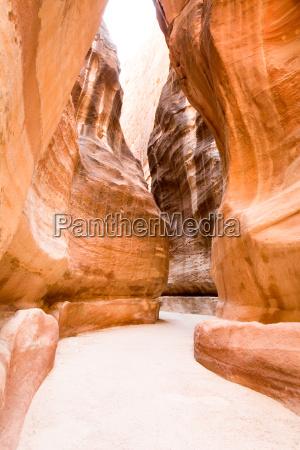 der siq canyon petra jordanisches land