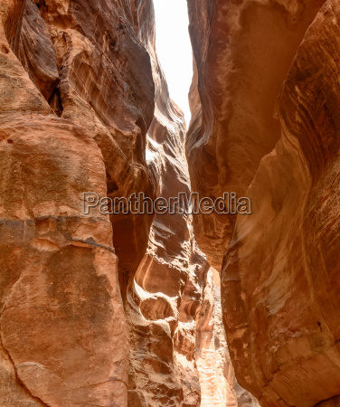 the narrow canyon