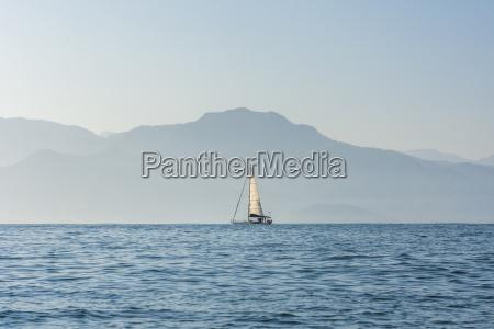 boat sailing on atlantic ocean in