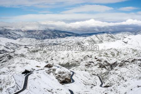 winding road through tizi ntichka pass