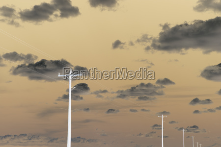 abstract of power lines and telephone
