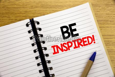 wort schreiben inspiriert geschaeftskonzept fuer inspiration