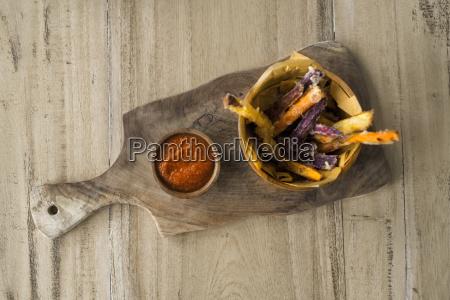 homemade sweet potato and potato chips
