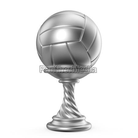 silbertrophaee tasse volleyball 3d