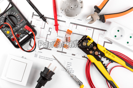 electrical tools and equipment on circuit