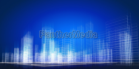 city concept background 3d rendering