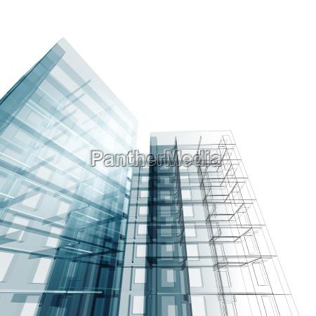 construction architecture 3d rendering