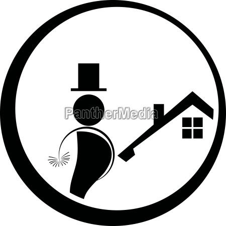 schornsteinfeger logo schornsteinfeger mann logo