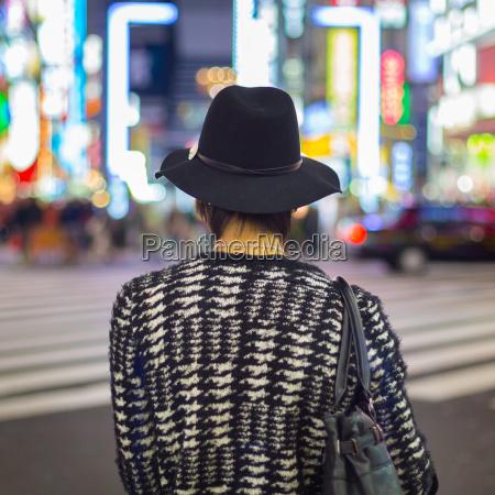 mann in shinjuku tokyo japan