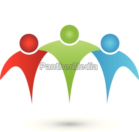 three people partner team friends people