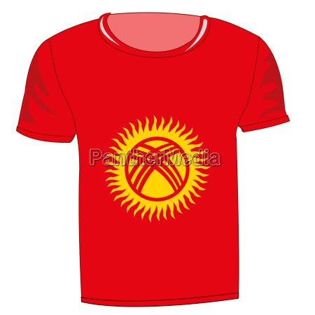 t shirt flag kirgiziya