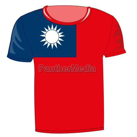 t shirt flag country taiwan
