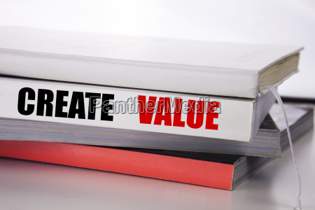 writing text showing create value business