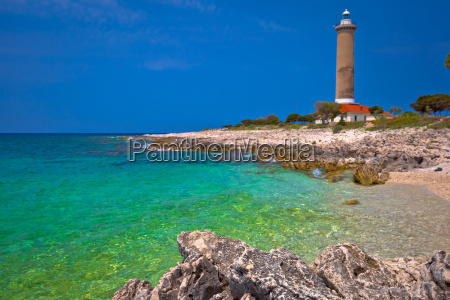 veli rat lighthouse and turquoise beach