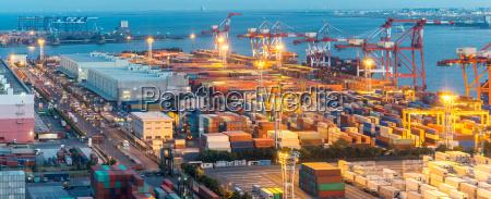 tokyo industrial port panorama