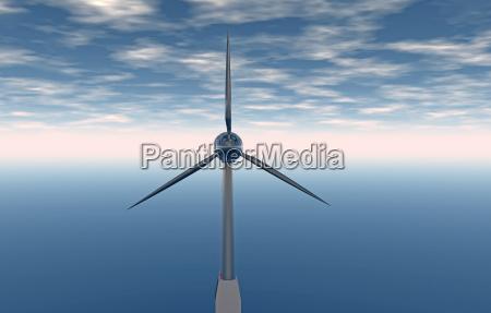 windrad fuer alternative energien