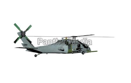 militaer helikopter am himmel
