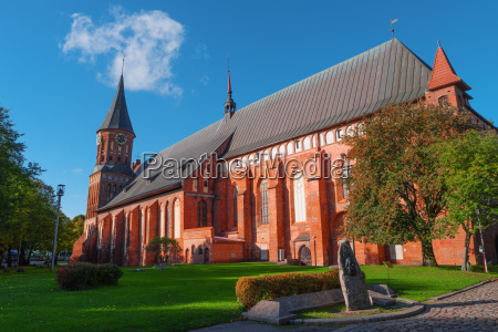 gothic cathedral kant island kaliningrad russia