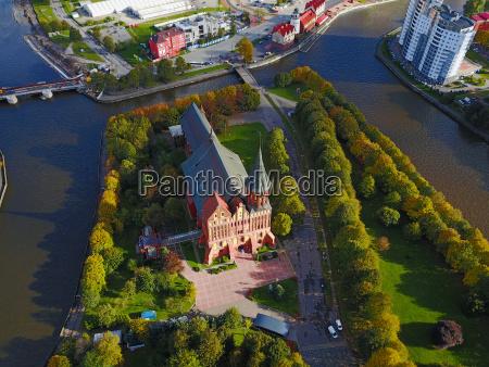 aerial cityscape of kaliningrad russia europe