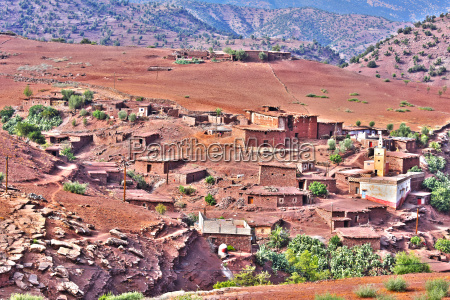 berber rural architecture of atlas mountains