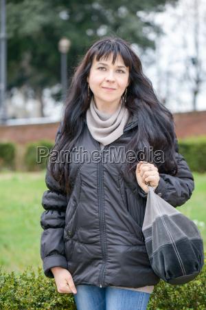 tourist girl in piazza bocca della