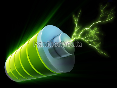 3d rendering of a battery with