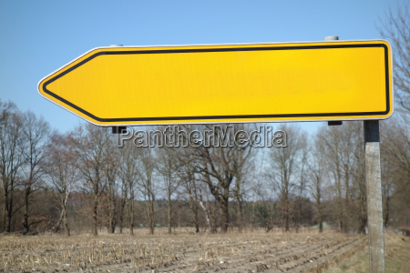 directional blank sign