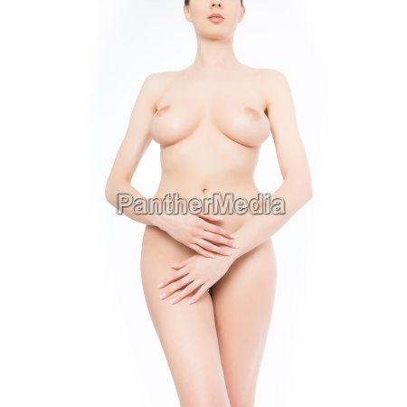 beautiful womans body on clear background